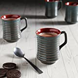 Unravel India Studio Ceramic Coffee Cups Set(Set Of 6)