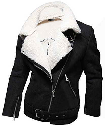 Jeansian Hommes Manteau Classic Style Zipper Manches Longues Casual Fashion Jacket 9452 Black