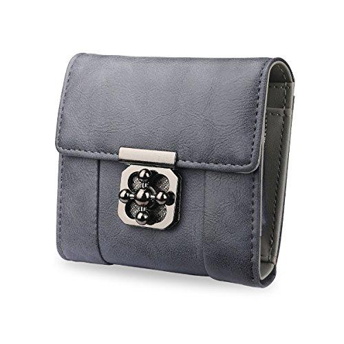 AFAITH Portafoglio delle donne in pelle, borsa 1xCash, slot per schede 6x, borsa multifunzione in moneta multifunzione Portafoglio per uso quotidiano / borsa da shopping / Party - Grigio FB001 grigio