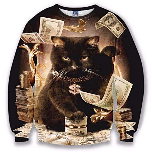TDPYT Männer/Frauen Hoodies Lose Stil Drucken Tiere Katze Panda Regenbogen Dreieck Cartoon 3D Sweatshirts Plus Größe 4XL 5XL-Oe S Oe-hoodie