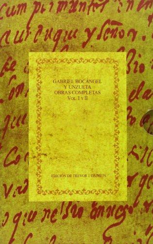 Gabriel Bocángel y Unzueta, obras completas: 2 (Biblioteca áurea hispánica) por BOCANGEL Y UNZUETA