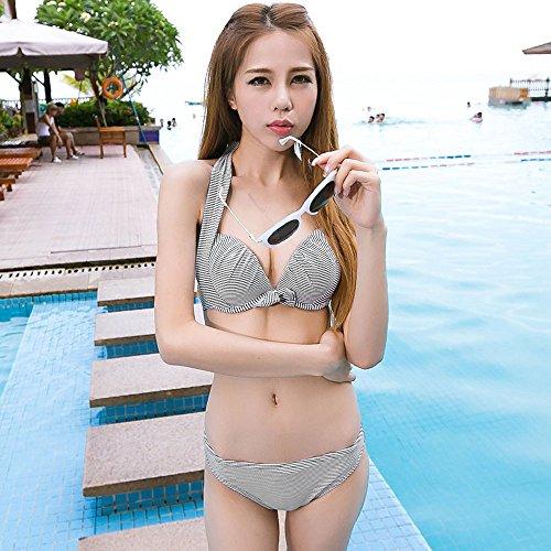 ZZYY*Xia Yan maillot 3 pièce femme petite poitrine derrière la plaque d'acier,maillots de corps M M
