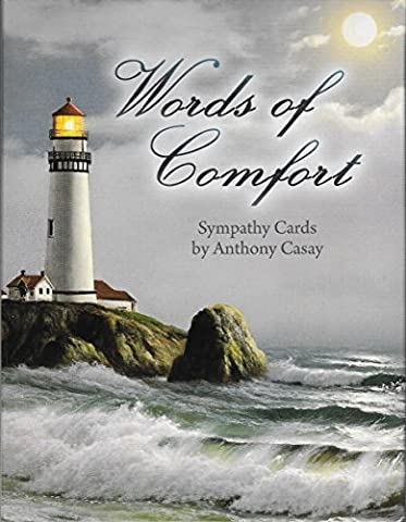 Words of Comfort by Anthony Casay [ASN34640] - Sympathy Note Card Assortment by Leanin' Tree - 12 cards featuring a full-color interior and colorful envelope by Leanin' (Sympathy Note)