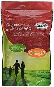 Granovita Organic Linusit Premium Ground Flaxseed Powder 450 g (Pack of 2)