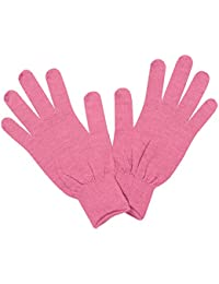 Sub Zero Womens Warm Insulating Seamless Lightweight Thermal Merino Wool Winter Liner Gloves Pink L/XL