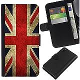 Graphic4You Bandera de Reino Unido Inglaterra Gran Bretaña Union Jack Británica Cuero Carcasa Funda Monedero para Sony Xperia Z3