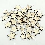 Holz-Verzierungen zum Aufhängen, Ornamente, von Ricisung Star-100pcs