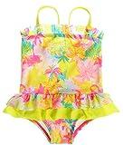 Attraco Baby Schwimmanzug Mädchen Süße Einteiler Baby Badeanzug Badebekleidung Baby Gelb 2-3 Jahre