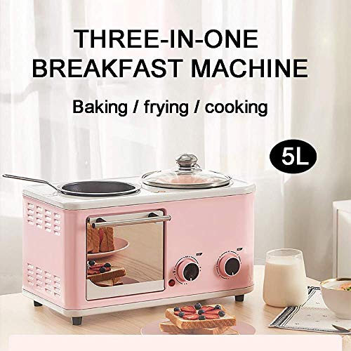 HIGHKAS 5L 3-in-1-Mini-Backofen, kleine Multifunktions-Frühstücksmaschine, Braten, Kochen, Braten zur gleichen Zeit, ist der Beste Helfer in der Küche, hellblau