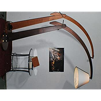 lampada da terra arco legno classico noce: Amazon.it ...