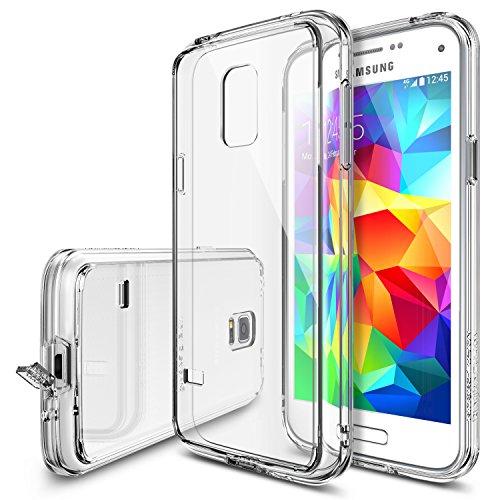 Galaxy S5 Mini Hülle, Ringke FUSION kristallklarer PC TPU Dämpfer (Fall geschützt/ Schock Absorbtions-Technologie) für das Samsung Galaxy S5 Mini - kristallklarer