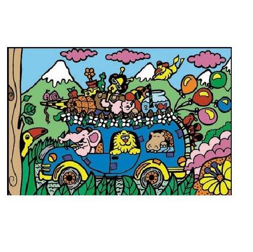 Colorvelvet 37x 37x 28cm Bus Dessin coloriage Système (M, Multicolore)