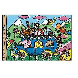 Colorvelvet Bus - Sistema de dibujo para colorear, diseño de autobús, 37 x 28 cm, tamaño mediano, multicolor , Modelos/colores Surtidos, 1 Unidad