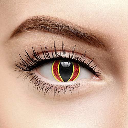 Von Das Auge Sauron Kostüm - Saurons Auge Farbige Kontaktlinsen Ohne Stärke (90 Tage)