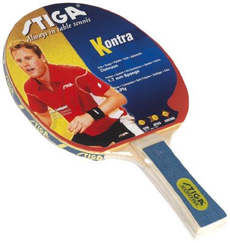 Racchetta tennis tavolo Stiga Kontra - Rossa, concava