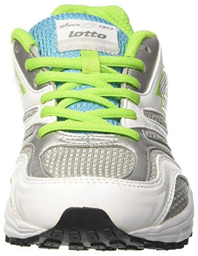 Lotto - Zenith V W, Scarpe da corsa Donna Multicolore (Bianco/Verde/Blu)