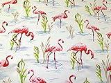 Flamingo Print Baumwolle Canvas Stoff