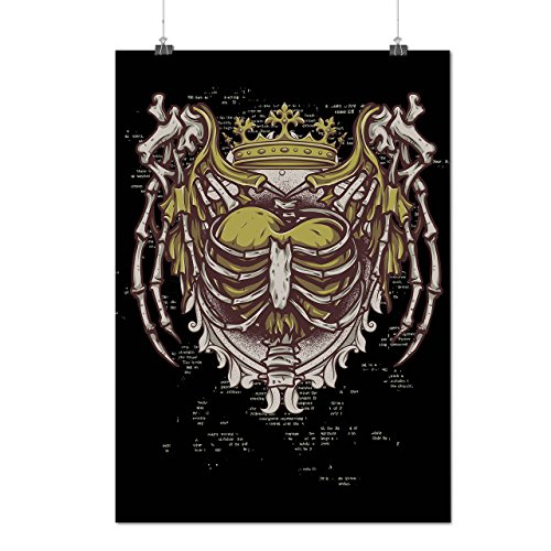 Skelett König Mode Liebe Rippe Käfig Mattes/Glänzende Plakat A3 (42cm x 30cm)   Wellcoda (Skelett Sweat Anzug)