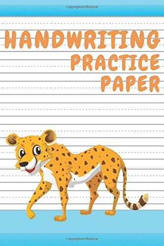 Handwriting Practice Paper: Blank Notebook with Dotted Mid-Lines for Grades K-3 (Leopard) -