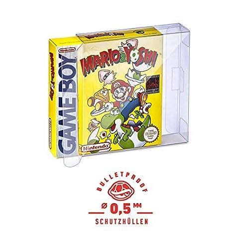 5 Klarsicht Schutzhüllen GAME BOY CLASSIC [5 x 0,5MM [ARMOURED] GAME BOY OVP] Spiele Originalverpackung Passgenau