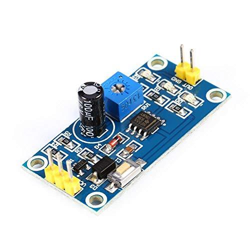 Test-modul (Verzögerungsrelais 5-12V, 0-120s Zeitverzögerung Controller Verzögerungstimer NE555 Einstellbarer Modul On-Board Test Taste)