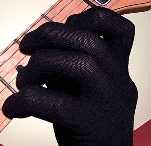 Guanto per Chitarra/basso, adatto per entrambe le mani – Confezione da 2 Medio Black