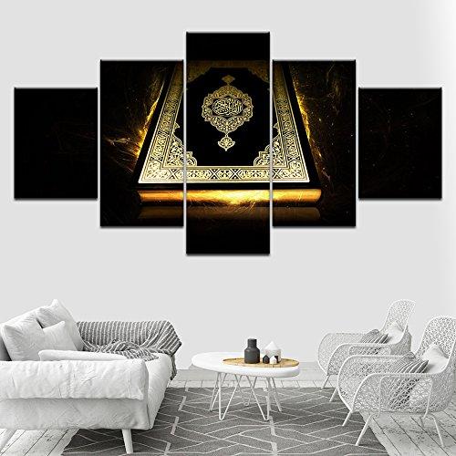 Moderne Drucke Wand Kunst Poster Modulare Leinwand Islam Bilder 5 Stück  Alte Bibel Gemälde Dekor Für Wohnzimmer Rahmen, 30x40 30x60 30x80cm, Frame