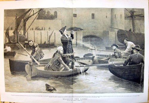 1895-bateliers-de-lavage-de-bateaux-dhommes-verts-de-charles-de-ceremonie-de-lions-petits-eclabousse