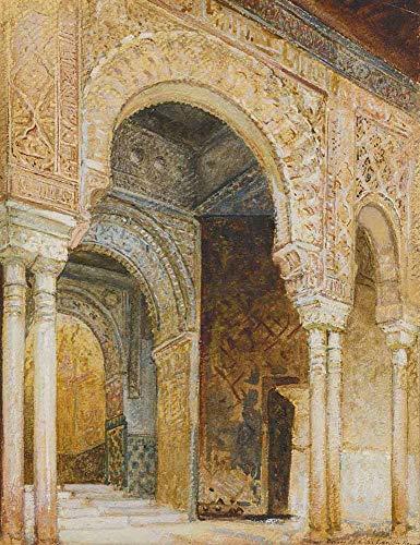 JH Lacrocon Louis Comfort Tiffany - Bogen In Alhambra Leinwandbilder Reproduktionen Gerollte 45X60 cm - Grafik Gemälde Vintage Gedruckt Wandkunst