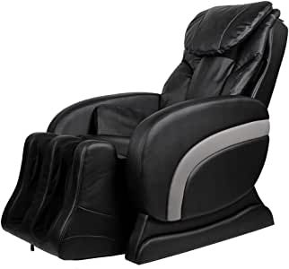 vidaXL Fauteuil de massage électrique en cuir artificiel Noir Chaise de massage