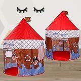TENCMG Princess Castle Zelt - Rocket Play House Zelt - Dollhouse Outdoor und Indoor Playhouse Zelt - Für Kinder von 1-8 Jahren,I,135x105cm/53x41in