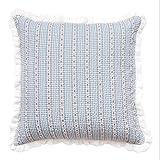 YIRED Garten-Wohnzimmer-Kissen, waschbares Kissen-Büro-Quadrat-Kissen 45CM * 45CM (Farbe : Blau, größe : 45CM*45CM)