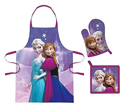 Frozen Schürzenset im Geschenkkarton bestehend aus Schürze, Topflappen und Ofenhandschuh