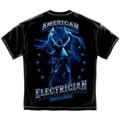 American camiseta de electricista Llamas de electricidad