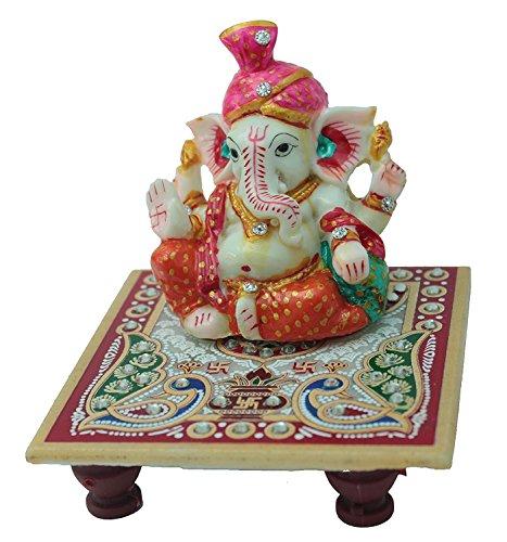 Traditionellen Marmor (APDITS Unikat Marmor Traditionelle Handgemachte Handwerk Spiritual Räucherstäbchen Pooja/Puja Ganesha Chowki Dekorative Geschenk.)