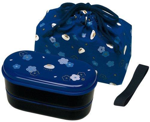 Sacchetto di vestiti di coniglio a due stadi con box lunch (a due stadi, cintura con le bacchette) blu KSX2 (japan import)