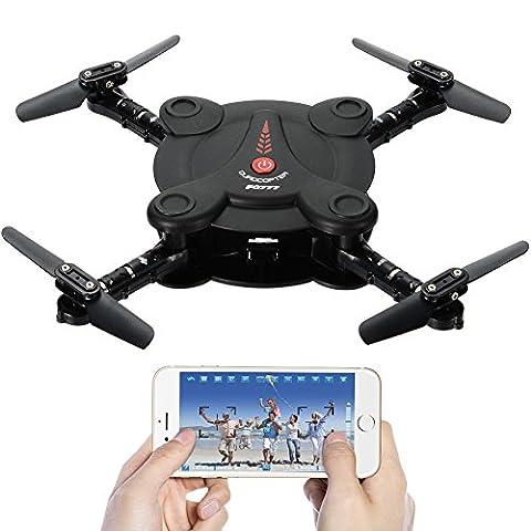 Leoie FPV Kamera RC Quadrocopter Drohne mit Live Video - Flexible faltbare Tragflächen App und Wifi Phone Control UAV 6-Achsen-Gyrosensor Schwerkraft-Sensor RTF Hubschrauber Spielzeug für jungen (Quadrocopter Android)