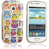 tinxi® Design Silikon Schutzhülle für Samsung Galaxy S3 mini i8190 Hülle TPU Silikon Rückschale Schutz Hülle Silicon Case mit bunte Eule Owl Muster