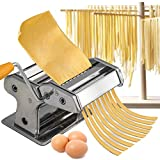 AZOD Noodle Maker Homemade Pasta Roller Maker Spaghetti Noodle Machine Cutter Stainless Steel