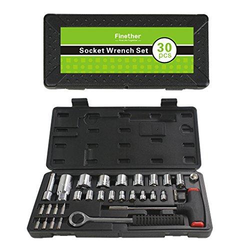 Preisvergleich Produktbild Finether Multi Schraubenzieher Set Schraubendreher Set Schrauber-Bit SetSteckschlüssel-Set 30-teilig Schrauberbit BitsatzSteckschlüsseleinsatz