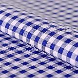 Hans-Textil-Shop Stoff Meterware, Vichy Karo 5x5 mm, Blau