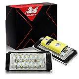 Win Power Errore gratuito LED Lampadina della licenza Luce targa montaggio Lampade 6000K Bianco freddo E46 2 Porta 1998-2003, 1 Paio