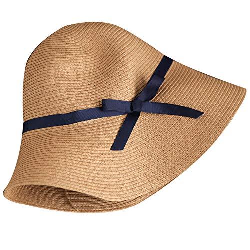 d18b9e0d52be yeahbo Straw Hat Chapeau De Paille Été Femme Douce Dentelle Arc Visière  Bord De Mer Vacances