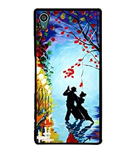 Dancing Couple 2D Hard Polycarbonate Designer Back Case Cover for Sony Xperia Z5 :: Sony Xperia Z5 Dual
