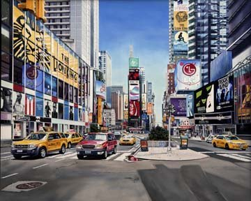 Art-Galerie Digitaldruck/Poster Michael Schuh - Times Square Reflections - 138 x 110cm - Premiumqualität - Stdte - Made in Germany SHOPde