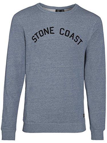 Herren Sweater Volcom Edwart Crew Sweater Grey Blue