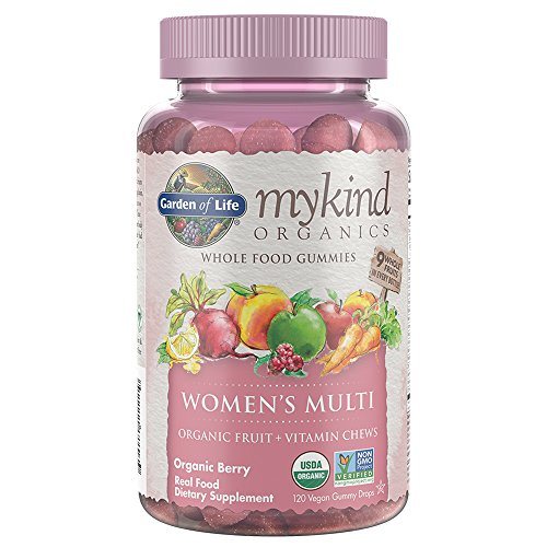 Garden of Life - Multi todo alimento gomitas Berry mykind materia orgánica mujeres - 120Gomitas