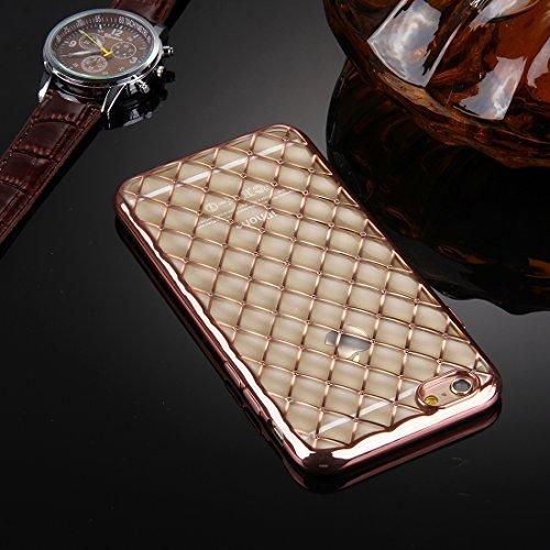 Pour iPhone 6 Plus / 6s Plus, Argyles Texture Galvanisation Soft TPU Housse de protection YAN ( Color : Rose Gold ) Rose Gold