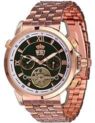 Lindberg & Sons Reloj Automático piraeus Acero/verde oscuro/Rose Gold Colores