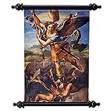 Design Toscano CL133 der Erzengel Michael und der Teufel (1518) Wandrollbehang, Wandteppiche, Andere, Mehrfarbig, 0,5 x 2,5 x 40,5 cm